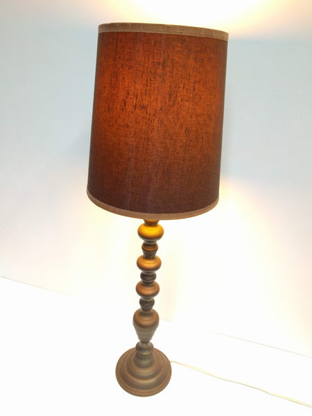 Vintage Brass Table Lamp with Shade