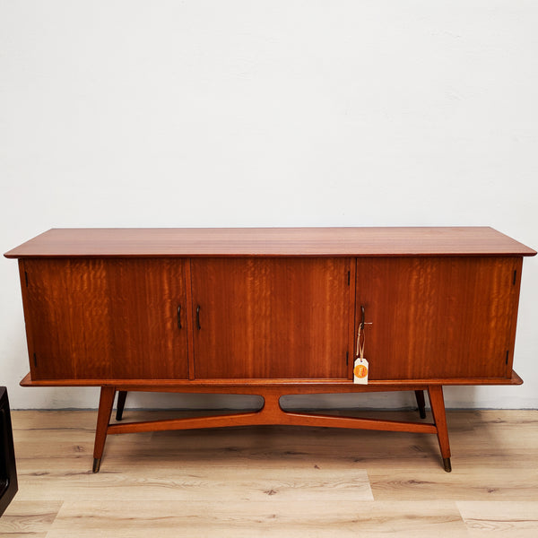 Unique Retro Sold Wood Australian Mid Century Sideboard Buffet
