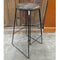 Rustic Industrial steel frame wood seat bar stool