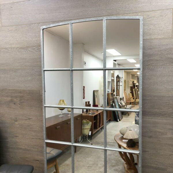 Industrial Steel Frame Bespoke Made Eighteen Section Mirror