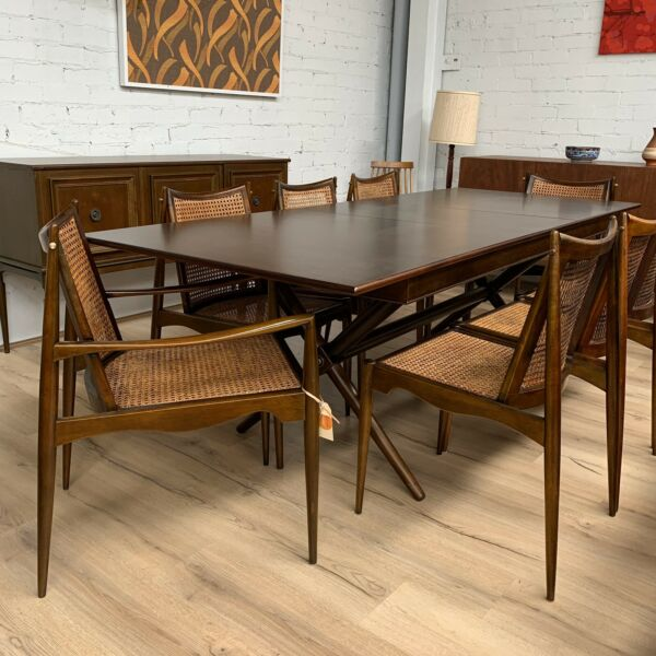 C1960's John Duffecy 8 Seater Dining Suite Table & Chairs- Fully Restored