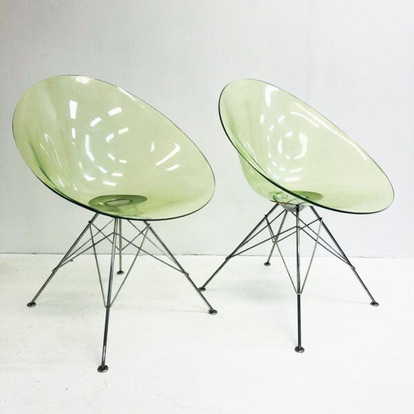 Kartell Green Lucite 'Eros' Chair - price each 2 available