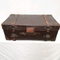 Large Antique Leather Trunk