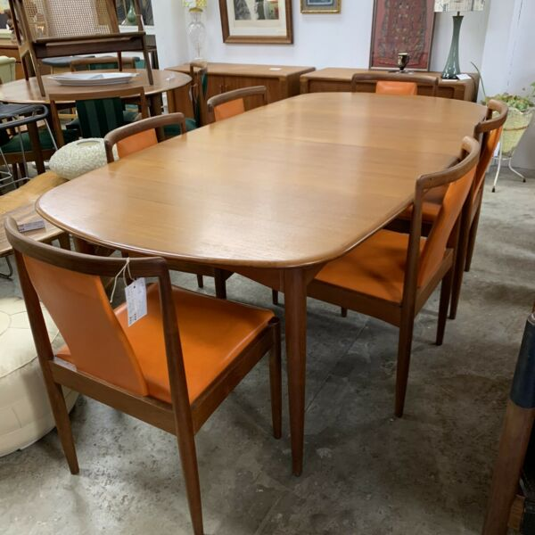 Largest Mid Century Parker Teak Dining Extension Table