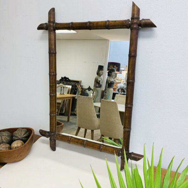 Late 19th Century Faux Bamboo Mirror