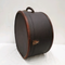 Vintage Leather and Canvas Hat Box