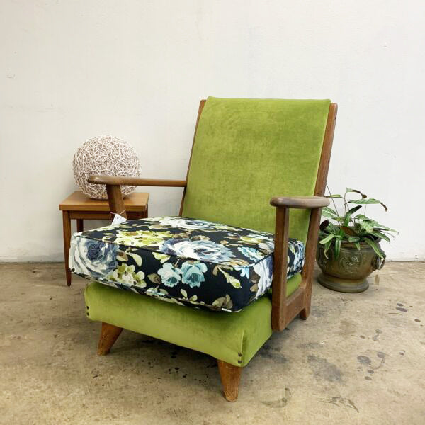 Mid Century 1950's Paddle Armchair Chair