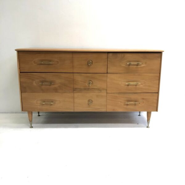 Mid Century 1960's Solid Wood Sideboard