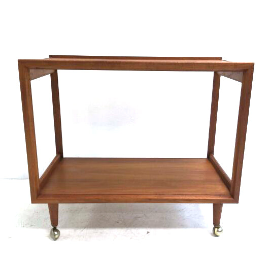 Mid Century 2 Tiered Bar Cart Drinks Trolley