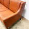 1960's Mid Century Danish Tan Leather 3 Seater Sofa Lounge