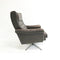 Mid Century Modern Danish Swivel Leather Arm Chair