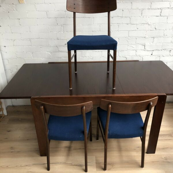 Mid Century Modern Dining Table and Chairs - Chairs sold