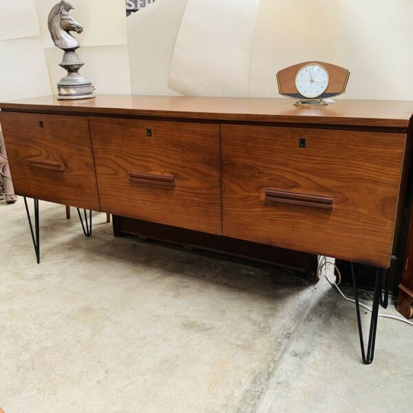 Mid Century Hair Pin Leg Sideboard