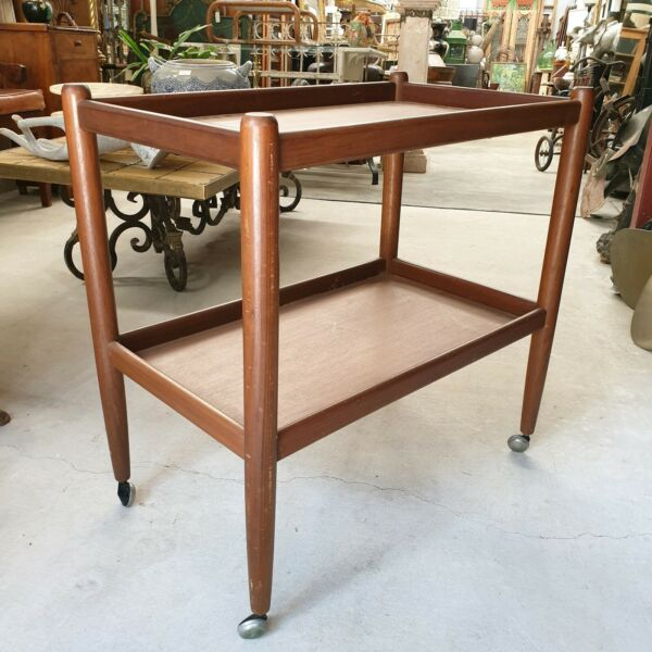 Mid Century 1970's Retro Cocktail Drinks Trolley
