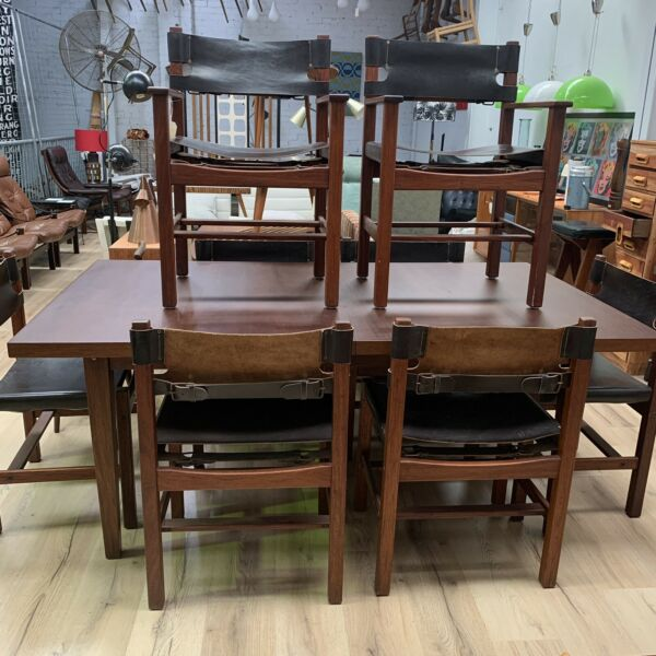 New Guinea Mahogany & Teak Dining Table & 8 Chairs