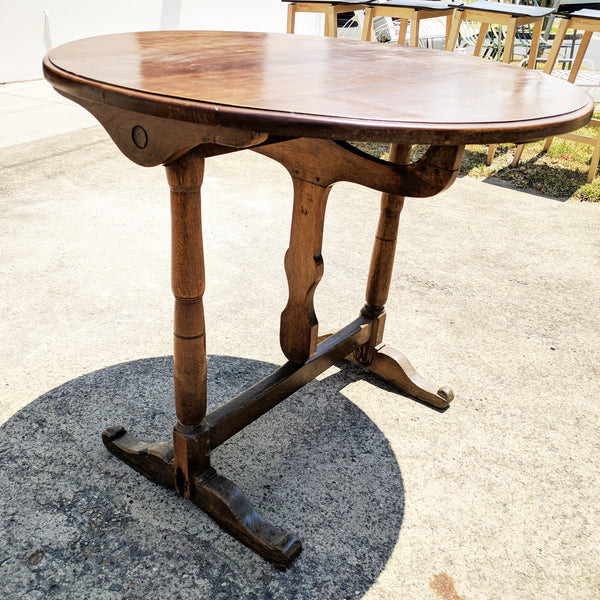 Antique French Provincial Vigneron Tilt Top Wine Tasting Round Table