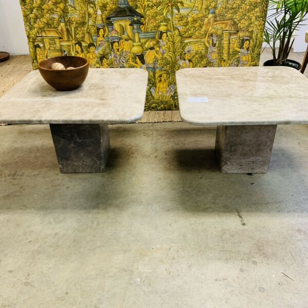 Pair Marble Coffee Tables