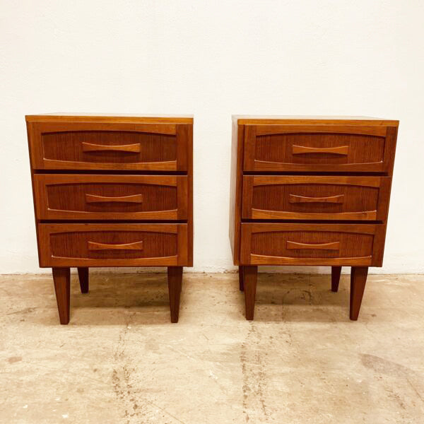 Pair Mid Century Burgess Bedsides Chest
