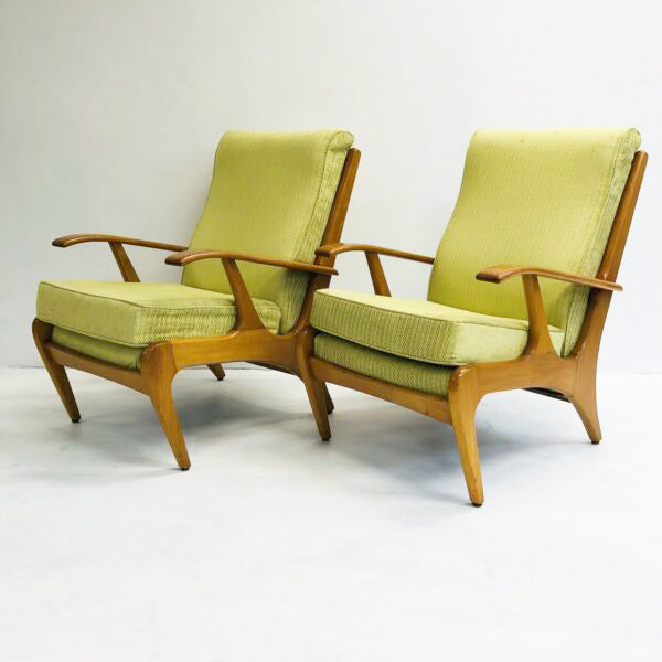 Pair of Mid Century Don Rex 'Speed Frame' Armchairs