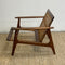 Mid Century Parker Rattan Back Armchair Lounge Chair - New Upholstery