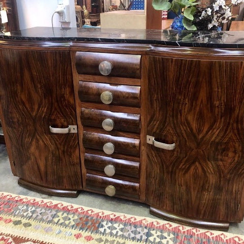 Stunning Original French Art Deco Sideboard Macassar Ebony Buffet