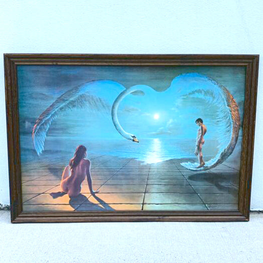Rare Framed Wings of Love Print of Painting by Stephen Pearson