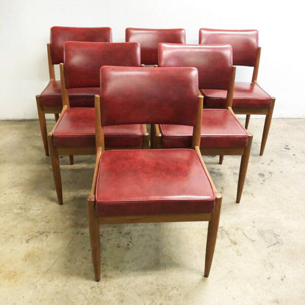 Set Of 6 Mid Century Chiswell Dining Chairs