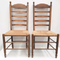 Rush Seat Ladder Back Chairs