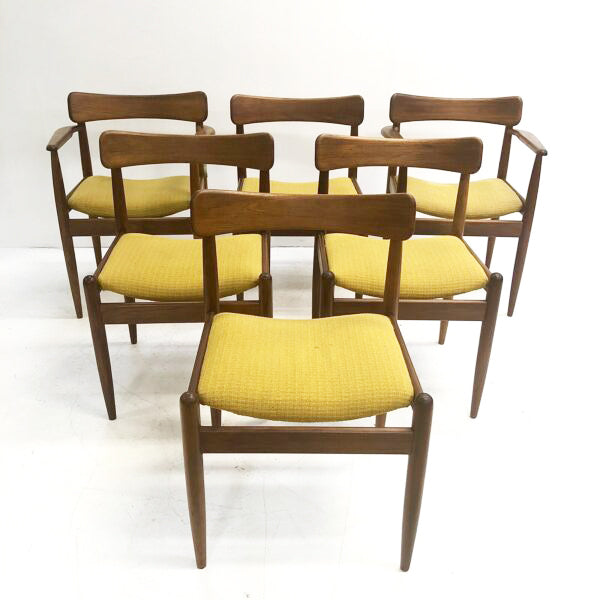 Set of 6 Mid Century Parker 105 Dining Chairs