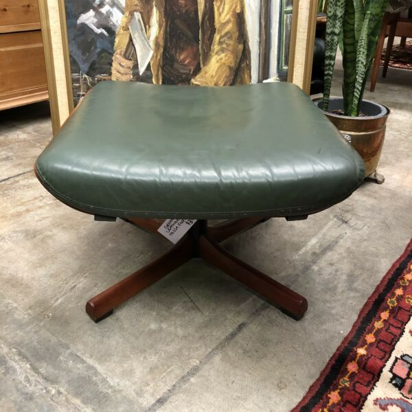 Tessa Green Leather Foot Stool