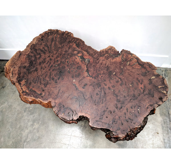 Wooden slab coffee table