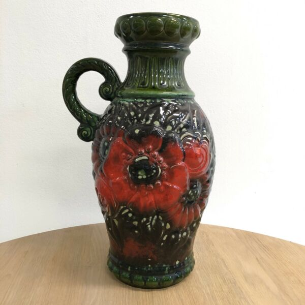 Tall Vintage 1970's West German Pottery Vase