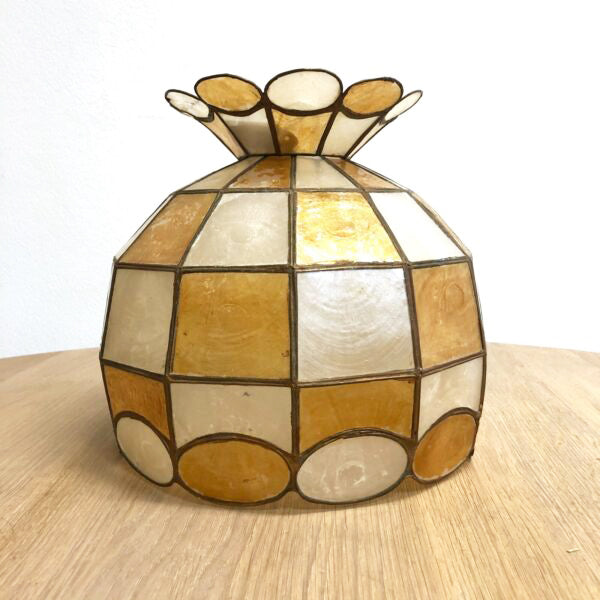 Vintage 1970s Capiz Shell Light Shade