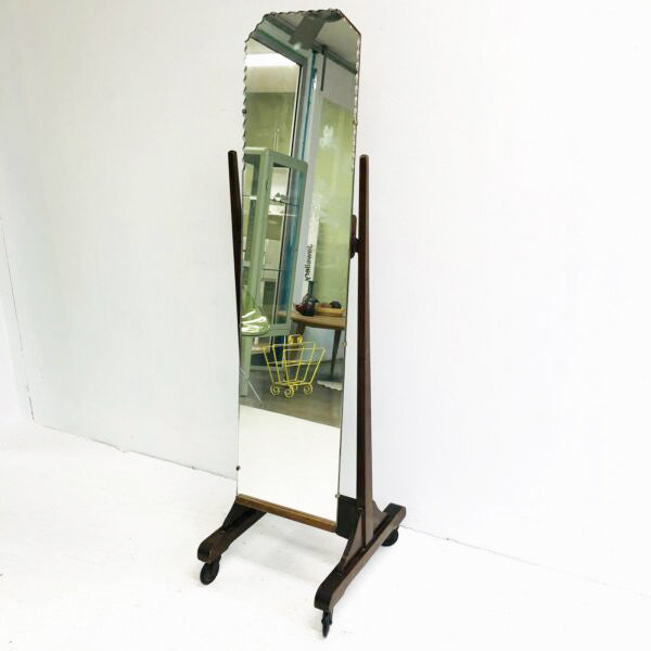 Vintage Art Deco Cheval Mirror
