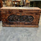 Vintage Carved Pine Oregon Trunk Chest