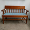 Vintage 1920's Upholstered Maple Bench Seat