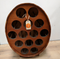 Vintage Retro Wooden Barrel Wine Rack