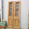 Architectural Wrought Iron Baltic Pine Fan Light Entry Doors