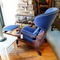 Reclining Wingback Library Armchair