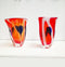 1980's Italian Art Glass Vases