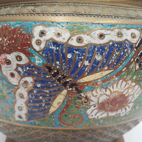 Brass and Enamel Champleve Jardiniere The Design Ark