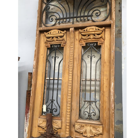 Wrought iron antique french doors