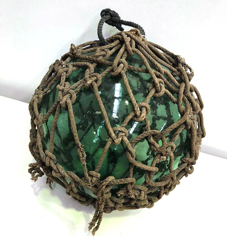 green glass fishing float