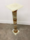 Superb Petit Art Deco French Onyx Marble Pedestal