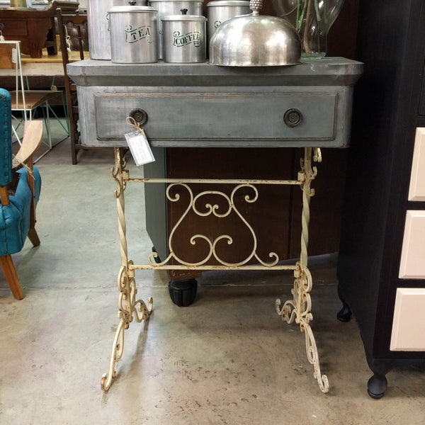 Vintage Metal Console Table