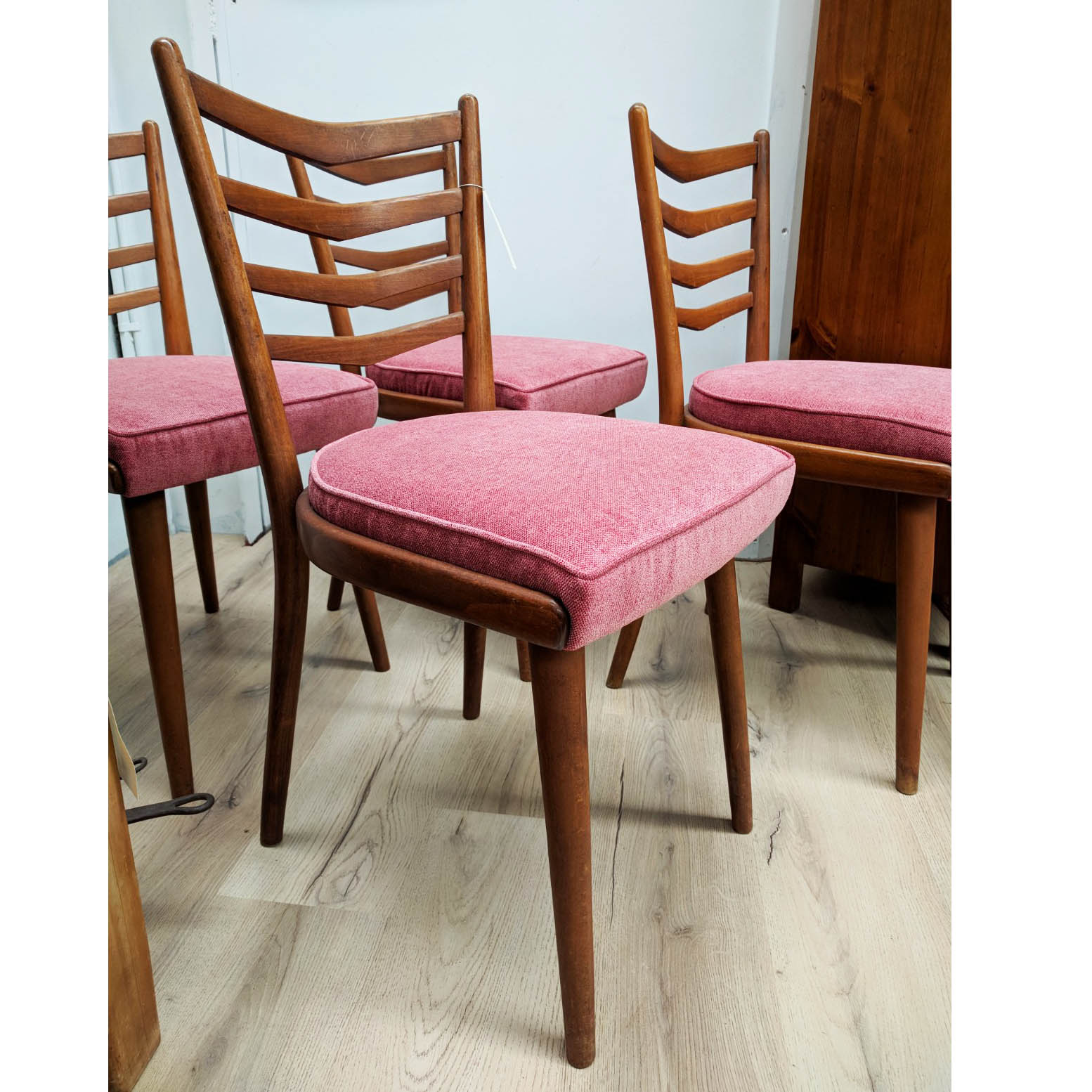 Mid Century Ladder Back Retro Dining Chairs