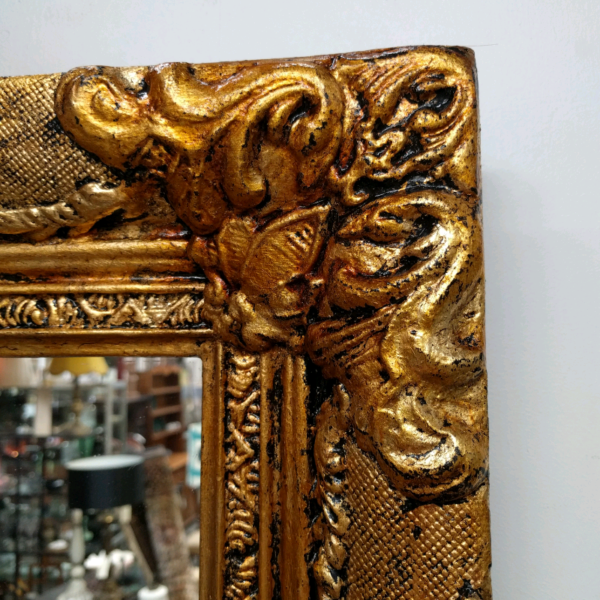 Ornate Antiqued Freshly Guilded Mirror