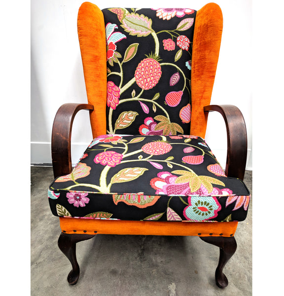 Parker knoll reupholstered armchair