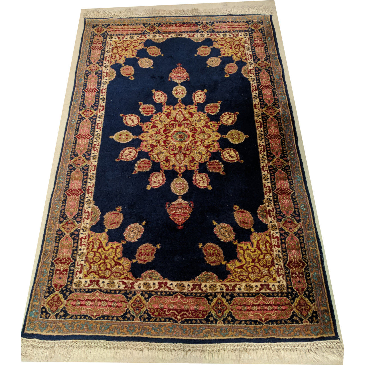 Stunning Blue Persian Hand Knotted Woollen Rug The Design Ark Antiques Kingsford Sydney