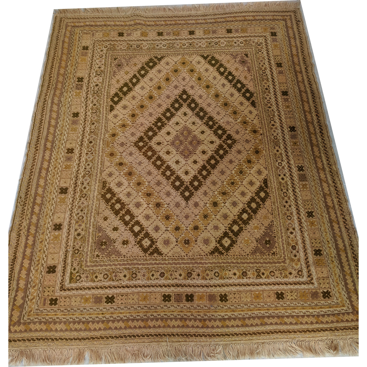 Vintage Hand Knotted 100% Wool Golden Rug at The Design Ark Antiques Kingsford Sydney